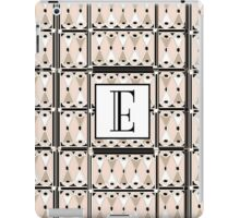 1920s Pink Champagne Gatsby Monogram letter E iPad Case/Skin