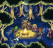 Chrono Trigger Camping Scene by likelikes