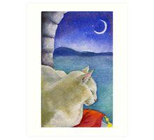 Castle Cat Art Print