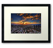 Tel Aviv, sunset time Framed Print