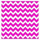 Cute Pink Chevron Pattern by iEric