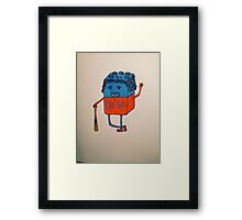 Cube-an baseball player Framed Print