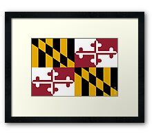 Maryland State Flag Framed Print