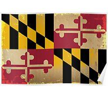 Maryland State Flag VINTAGE Poster