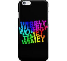 Wibbly Wobbly Timey Wimey Rainbow iPhone Case/Skin