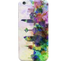 Khobar skyline in watercolor background iPhone Case/Skin