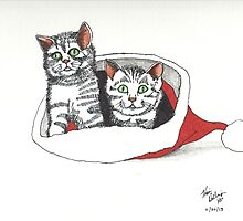 Holiday Kittens by Kevin Dellinger