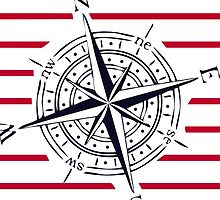 COMPASS WITH STRIPES by HawaiianSiren