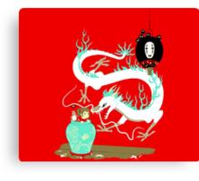 The white dragon Canvas Print