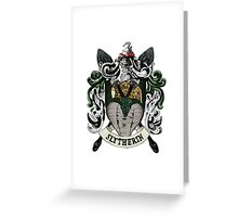 Slytherin House Pride Greeting Card