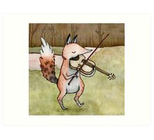 Violin Fox Art Print