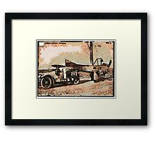 A digital painting of a German aeroplane being transported 1915 WW1 Framed Print