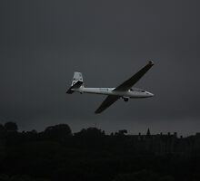 Swift S1 Glider G-IZII  (just before crashing) by Andy Jordan