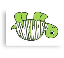 Awkward Turtle - GREEN Canvas Print