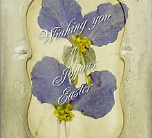 Easter Greeting Card - Asiatic Dayflower by MotherNature2