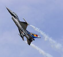 Belgian F-16 Climbs by TomGreenPhotos