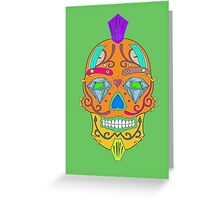 """skull-faced Canadian """"the best"""" Greeting Card"""