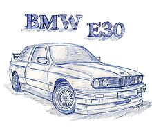 Bmw E30 Evo 2 Sketch by Jaykblu