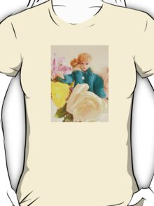 Vintage Barbie with Flowers T-Shirt