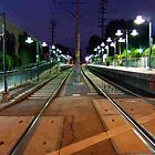 Train Tracks, Night by Laurie Allee