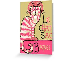 Le Chat Sac Greeting Card