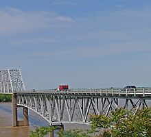 Bridging the Mississippi, Missouri to Illinois, USA by Margaret  Hyde
