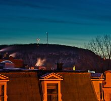 Mont-Royal Summit - Night View by Michael Vesia