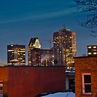 Montreal Skyline - Night by Michael Vesia