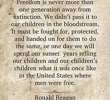 Ronald Reagan Quote by morningdance