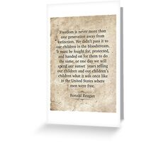 Ronald Reagan Quote Greeting Card