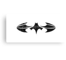 Batman Segmented Logo (White Background) Canvas Print