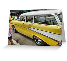 Classic Chevrolet Wagon Greeting Card