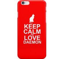 Keep Calm and Love Daemon iPhone Case/Skin