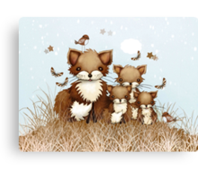 Little Foxes Canvas Print