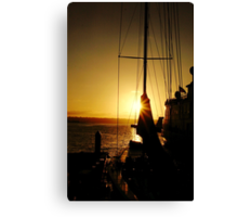 Sunset on the Harbor Canvas Print