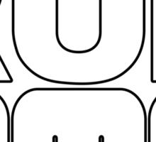 RUN DeLorean Motor Company Sticker