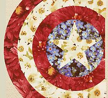 Captain America - Floral Shield by M. Wilson