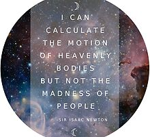 "Isaac Newton ""Not the madness of people"" by livintune"