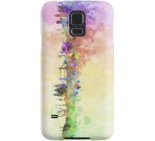 London skyline in watercolor background Samsung Galaxy Case/Skin