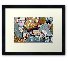Rocks from Hervey Bay Framed Print