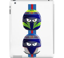 WILLIAMS_MASSA_BOTTAS_Helmets_2014 iPad Case/Skin
