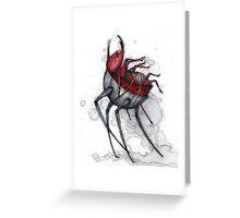 Beetle Walker Greeting Card