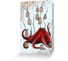 Lantern Octopus Greeting Card