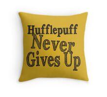 Hufflepuff Badgers Typography Pillow Throw Pillow