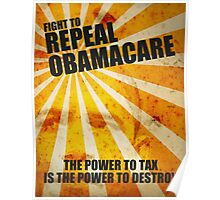 Fight To Repeal Obamacare Poster