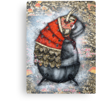 Samurai Tubfish Canvas Print