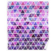 Berry Purples - Triangle Patchwork Pattern Poster