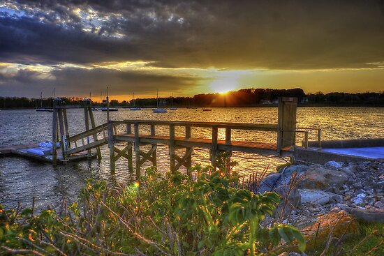 Sunset Over Rhode Island by Nancy Richard