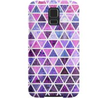 Berry Purples - Triangle Patchwork Pattern Samsung Galaxy Case/Skin