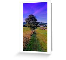 A lonely tree with some scenery around | landscape photography Greeting Card